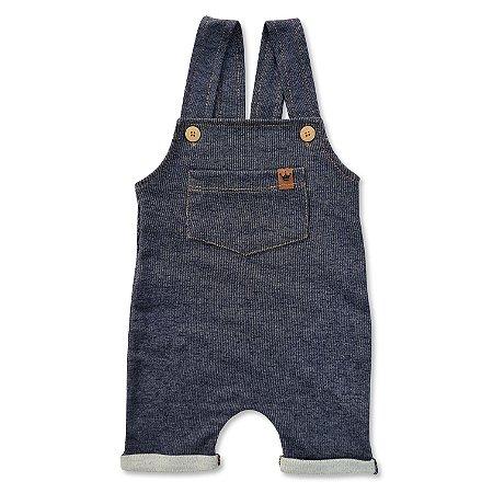 Jardineira Curta Jeans