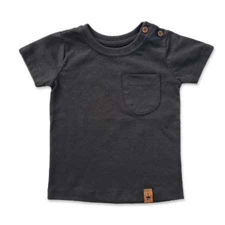 Camiseta Bolsinho Preto