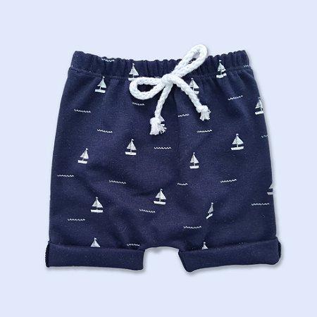 Shorts Barco a Vela Azul Marinho