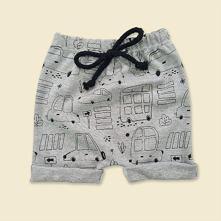 Shorts Carros Cinza Mescla