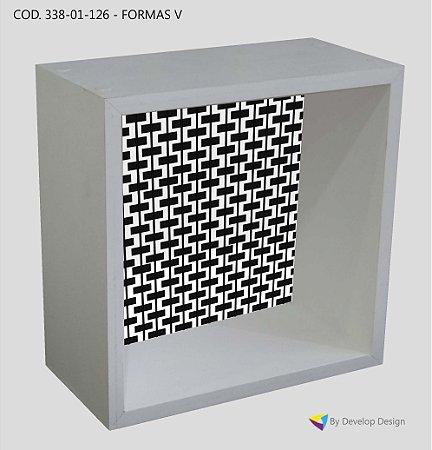 Nicho de parede, Customizado Série Black & White, em madeira, diversas estampas