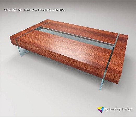 Mesa de Centro PARAHYBA, em madeira maciça de massaranduba, Linha CLASSIC