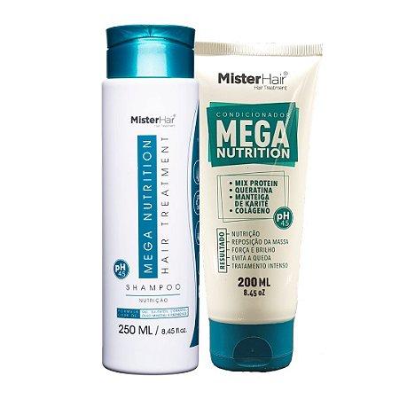 KIT- Shampoo e Condicionador Mega Nutrition