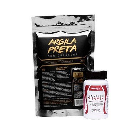 Kit Argila preta + Suplemento Capilar - Mister Hair
