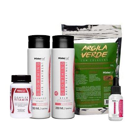 Kit Mega Fortalecimento - Argila Verde - Mister Hair