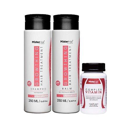 Kit Growthing Hair (Shampoo + Balm) + Complex Vitamin