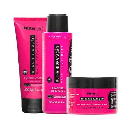 KIT Ultra Hidratação (Shampoo, Condicionador e Máscara) - Mister Hair