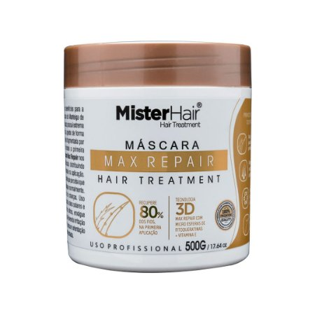 Max Repair Mascara Reparadora - 500g  - Mister Hair