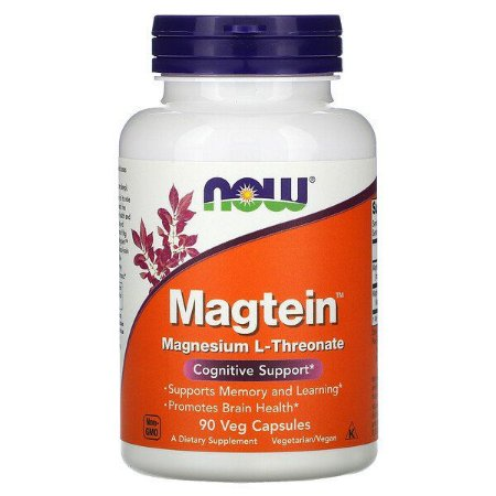 Magnésio L-Treonato Now Foods 90 Cápsulas