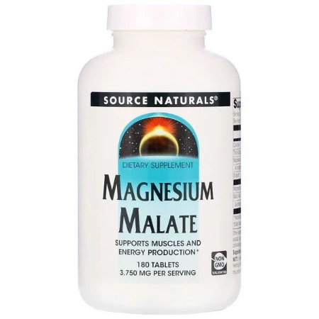 Magnésio Dimalato Source Naturals USA 1250mg 180 Tablets