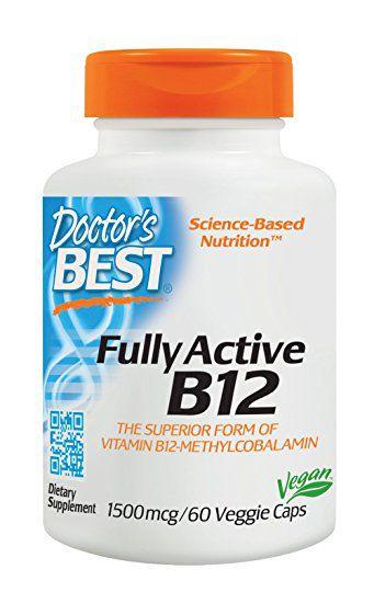 Vitamina B-12 Doctor's Best Metilcobalamina 1500mcg 60 Cápsulas Vegetarianas