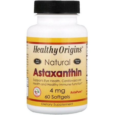 Astaxantina Healthy Origins 4mg 60 Cápsulas