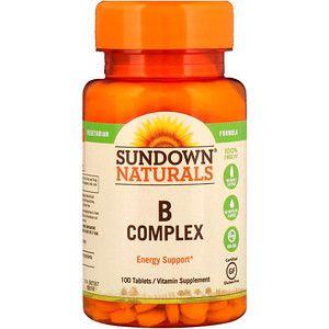 Complexo B Sundown Naturals 100 Tablets