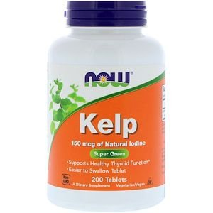 Kelp 150mcg 200 Tablets NOW FOODS