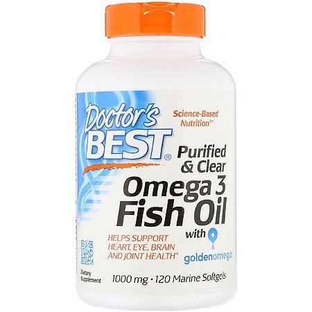 Ômega-3 1000mg 120 Softgels Doctors Best 400EPA/200DHA