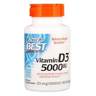 Vitamina D3 5,000UI Doctors Best 180 Softgel