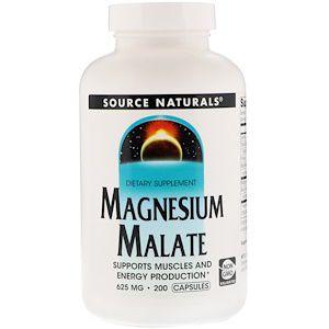 Magnésio Dimalato Source Naturals 625mg 200 Cápsulas
