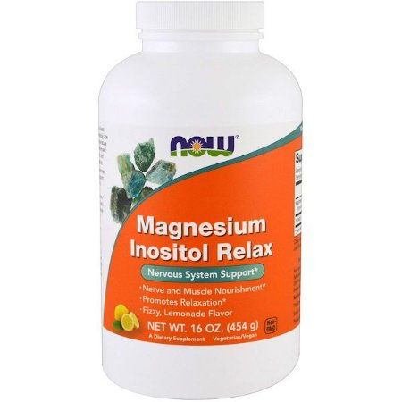 Relaxante de Magnésio e Inositol 454g NOW FOODS