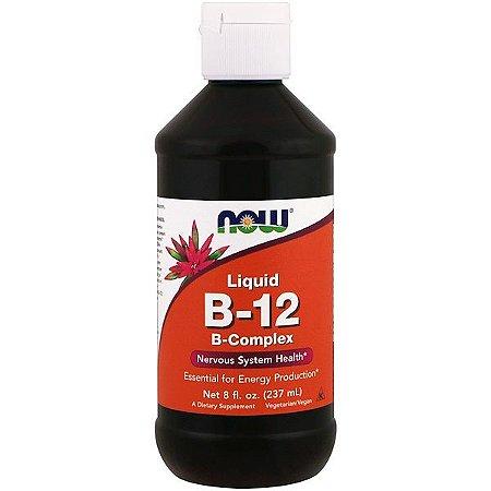 Vitamina B12 Líquida, Complexo B, NOW FOODS 237ml