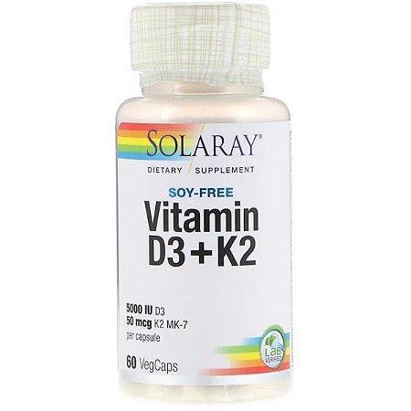 Vitamina D3 + Vitamina K2-MK7 60 Cápsulas Vegetarianas