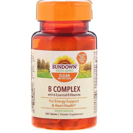 Complexo B Sundown Naturals 100 Tablets