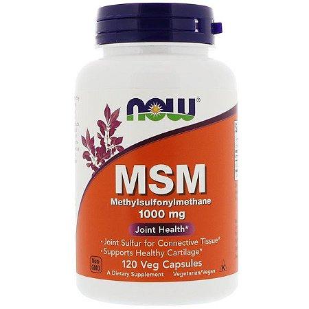 MSM Now Foods 1000mg 120 Cápsulas