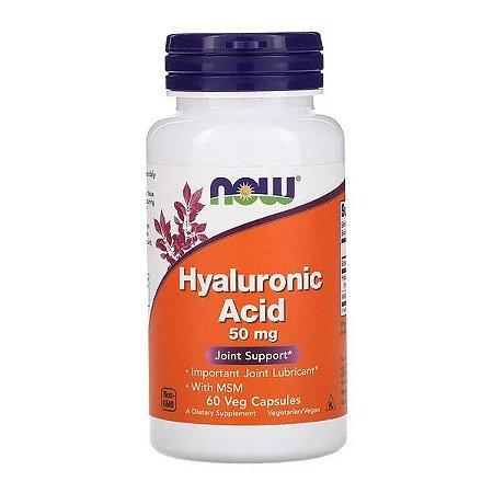 Ácido Hyaluronico NOW FOODS 50mg 60 Cápsulas