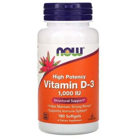 Vitamina D3 1.000UI Now Foods 180 Softgels