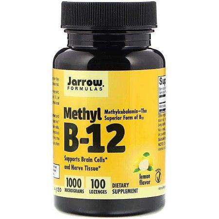 Jarrow Formulas, Metil B-12, Sabor de Limão, 1000 mcg, 100 Pastilhas
