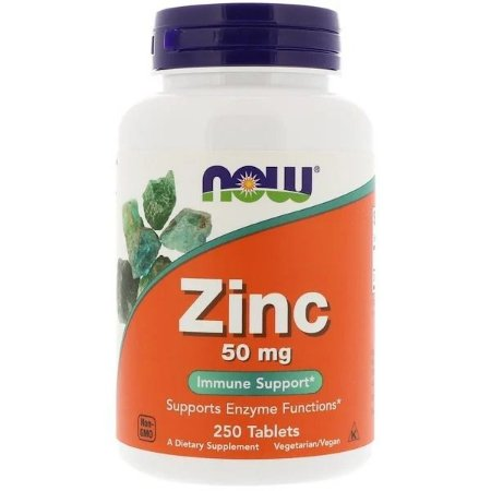 Zinco Now Foods 50mg 250 Tablets