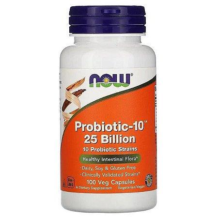 Probiótico-10 25 Bilhões NOW FOODS 100 Cápsulas