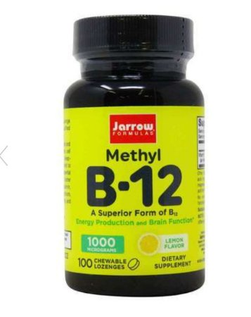 Vitamina B-12 Metilcobalamina Jarrow Formulas 1000mcg 100 Pastilhas Mastigáveis