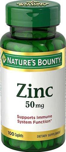Zinco Nature's Bounty 50mg 100 Tablets