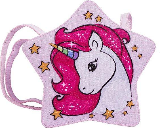 3983ed2bc BOLSA ESTRELA GLITTER - Princesa Pink