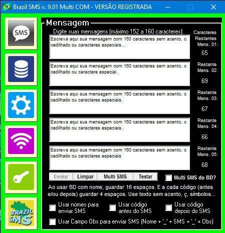 Licença Adicional do Brazil SMS