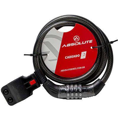 CADEADO ABSOLUTE 1,2MX12MM ESPIRAL COM SEGREDO