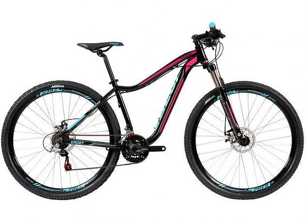 Bicicleta Caloi Kaiena Sport Feminina aro 29 com freio a disco e suspensão