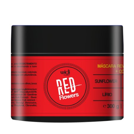 MÁSCARA REVITALIZANTE + COR RED FLOWERS • 300g •