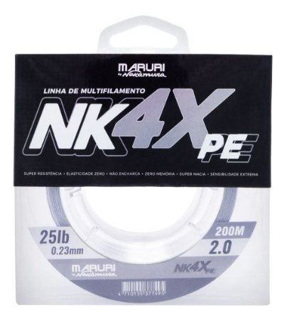 Linha Multifilamento Maruri by Nakamura NK 4X PE 0.23mm 200m