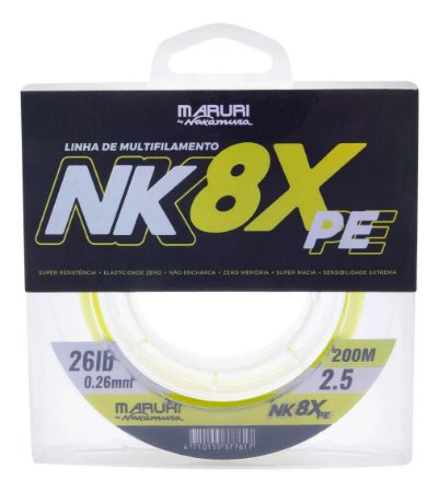 Linha Multifilamento Maruri by Nakamura NK 8X PE 0.23mm 200m
