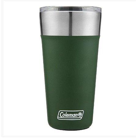 Copo Térmico De Cerveja Coleman Verde Escuro C/Tampa - 590ml