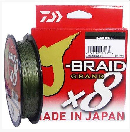 Linha Multifilamento Daiwa J-Braid 0,28mm 135m - 30lbs