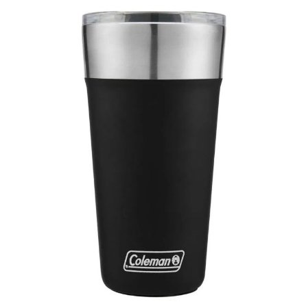 Copo Térmico De Cerveja Coleman Preto Com Tampa - 590ml