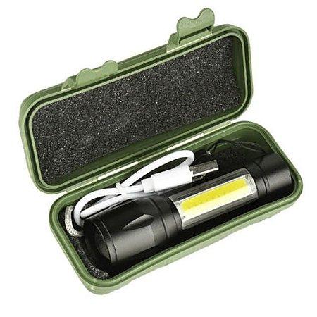 Lanterna Tática com função Lampião e carregamento USB