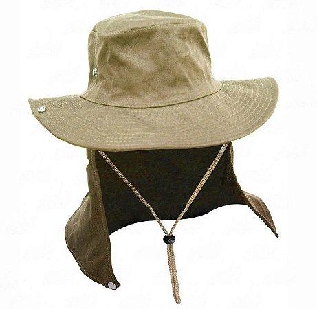 Chapéu Safari Com Proteção De Pescoço Jogá Caqui