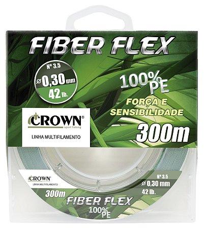 Linha Multifilamento Crown Fiber Flex 4x 0,30mm 300m