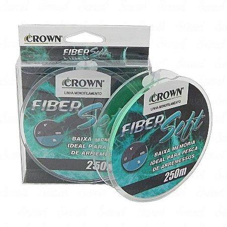 Linha Monofilamento Crown Fiber Soft 0,43mm 250m