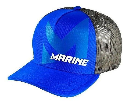 Boné Americano Para Pesca Marine Sports Azul