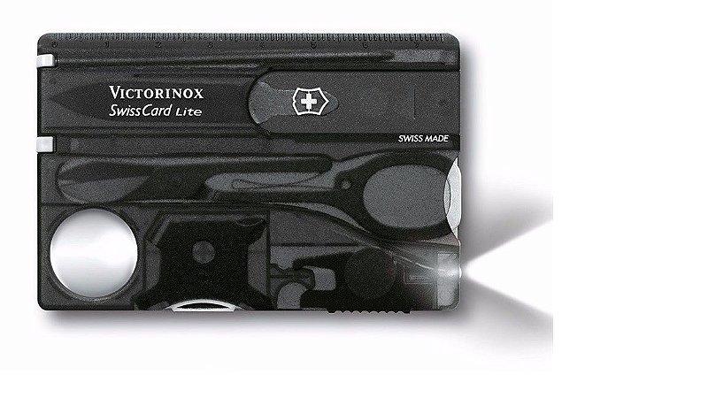 Canivete Victorinox  SwissCard Lite Preto Translucido 0.7333.t3
