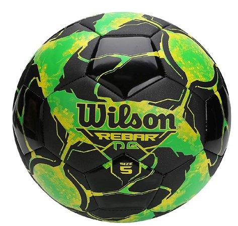 Bola Futebol Campo Wilson Rebar Ng - Verde Limão e Preto